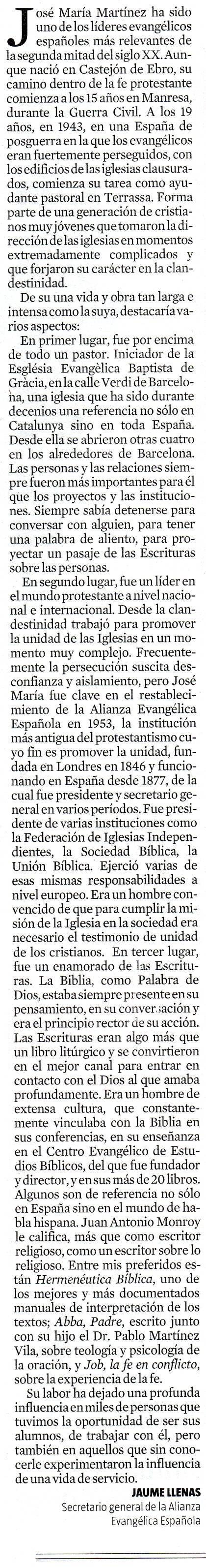El artículo de Jaume Llenas en La Vanguardia