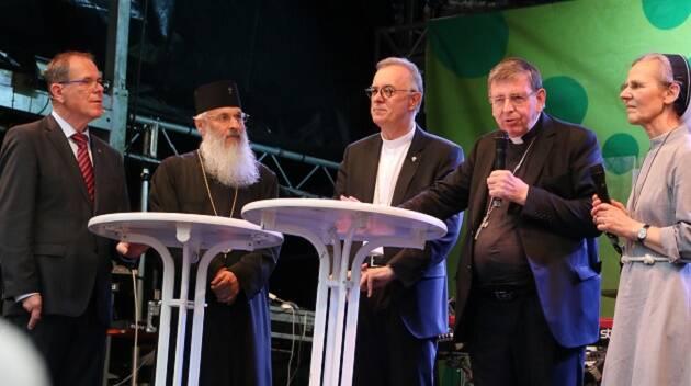 Líderes cristianos participan juntos en el congreso celebrado en Munich. / Haaf,ecumenismo munich
