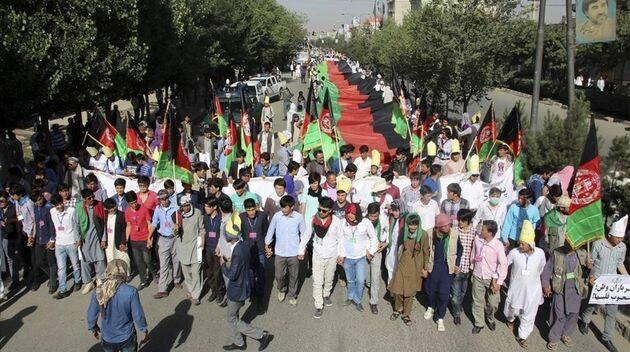 El ataque suicida de Kabul se produjo durante una manifestación,