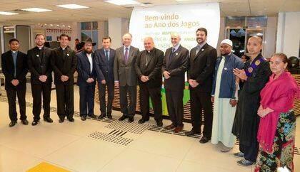 Algunos de los capellanes de diferentes religiones.