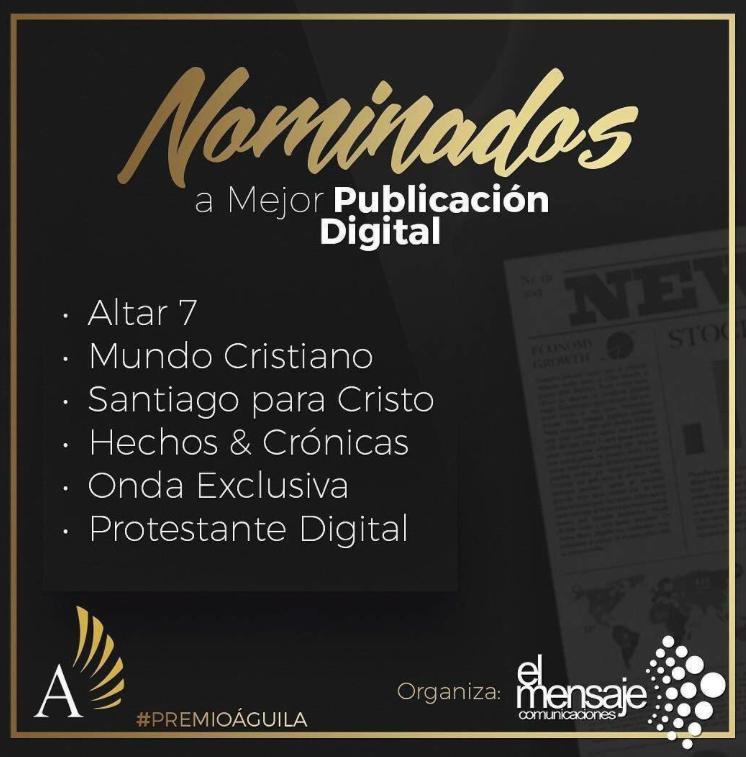 Protestante Digital, nominado al Premio Águila