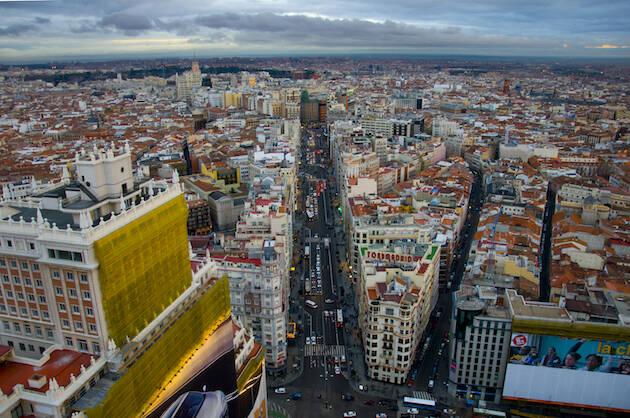 Vista aérea de Madrid, capital de España.,madrid españa