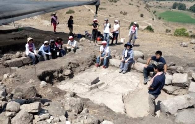 Los restos de la sinagoga de Tel Rechesh / Israel Hayom,sinagoga, Tel Rechesh