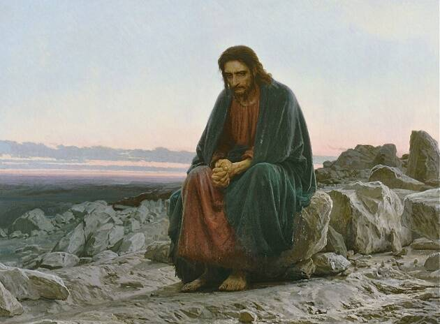 Cristo en el desierto, de Iván Kramskoi.,Iván Kramskoi