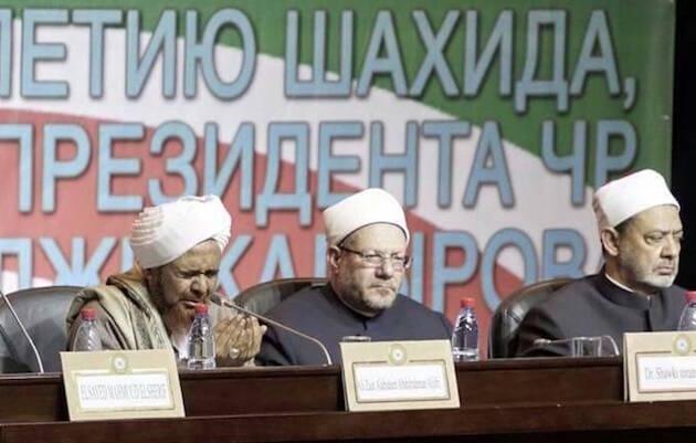 Algunos de los participantes en la conferencia celebrada en Grozni. / Abna24,musulmanes chechenia
