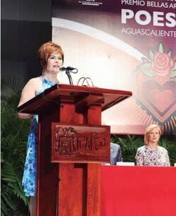 Actp de entrega del Premio Aguascalientes de Poesía 2016.