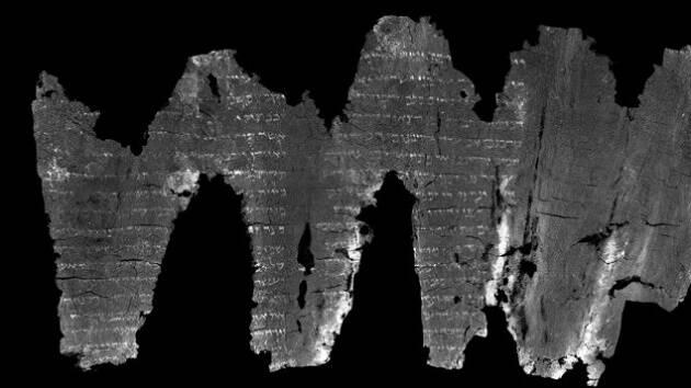 El rollo desenrollado digitalmente por los investigadores. / Universidad de Kentucky,
