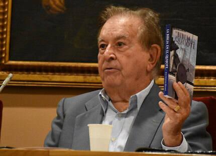Juan Antonio Monroy explicó la relación del Quijote con la Biblia. / Héctor Rivas