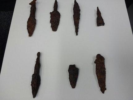 En el lugar se han encontrado puntas de flecha asirias y judías. / IAA