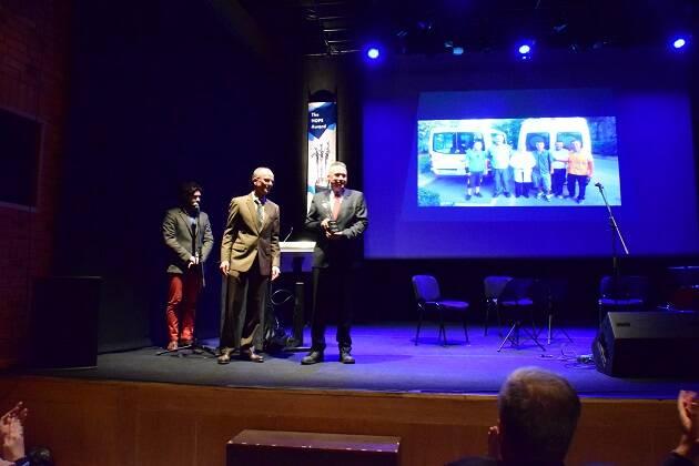 Momento de entrega del premio. / Herman Spaargaren