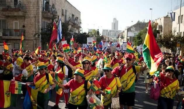 Evangélicos del mundo muestran su apoyo a Israel en la Marcha de Jerusalén,Israel evangélicos, Marcha Jerusalén