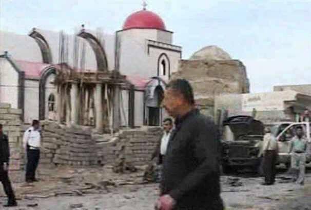 Qaraqosh es una ciudad muy dañada por los combates contra el Daesh.,qaraqosh