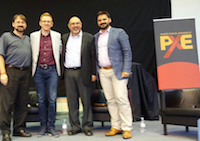 De izquierda a derecha: David Barceló, Will Graham, Sugel Michelén, Javier Pérez.