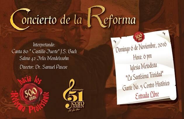 Cartel de uno de los conciertos con el Coro Amén. ,