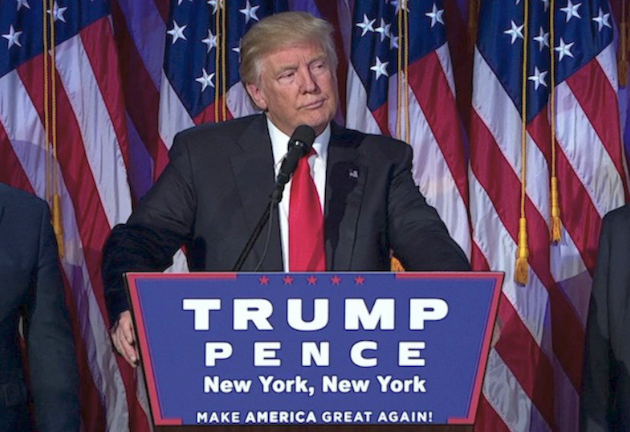 Donald Trump, en su discurso tras la victoria electoral en Estados Unidos.,trump hillary