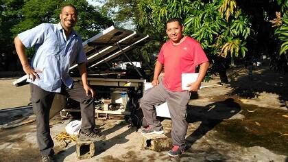 Potabilizadora solar móvil en Haití. / GAiN España