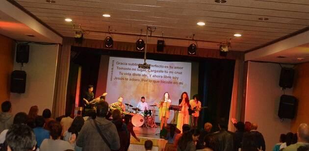 Concierto de Alabanza para su Gloria, durante la celebración en Hospitalet.,