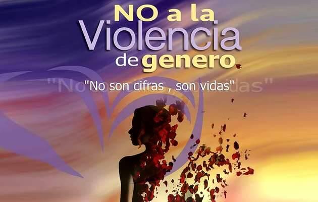 Imagen y lema del encuentro,violencia mujer