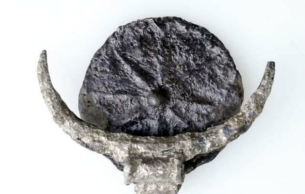 Medallón con la estrella de ocho puntas y la media luna / Tel Gezer,Tel Gezer, arqueología