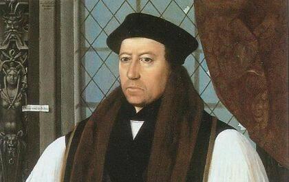 Thomas Cranmer, el primer arzobispo de Canterbury escogido por el rey Enrique VIII.