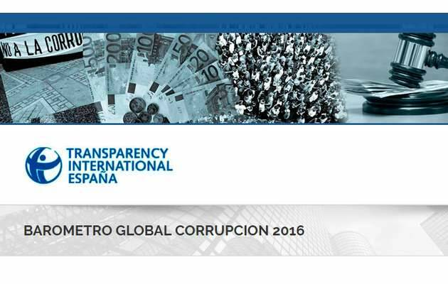 Portada de la web de Transparencia Internacional,Transparencia Internacional