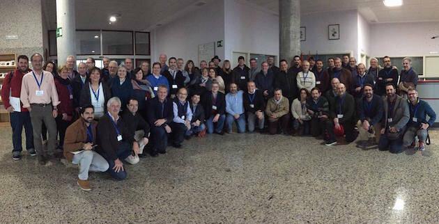 Grupo de participantes del encuentro celebrado en Guadarrama, los días 25 y 26 de noviembre.,