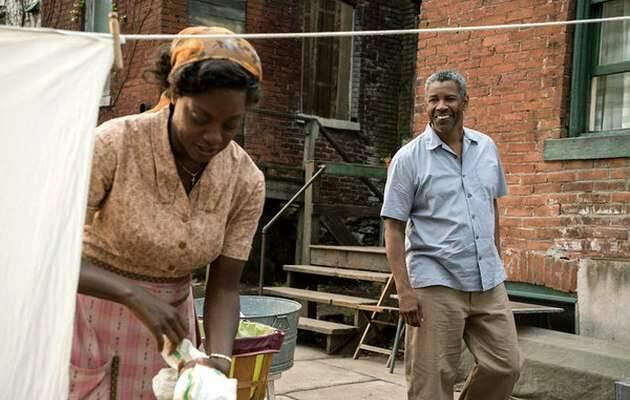 Una escena de la película,Fences, Denzel Washington