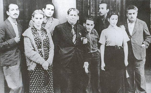 Elena Garro con Octavio Paz y otros artistas mexicanos en España (1937),