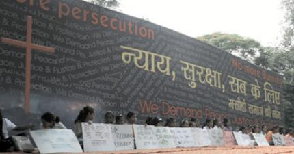 Manifestación de cristianos en India demandando protección. / Evangelical Fellowship Of India
