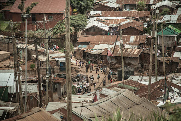 Kibera, el mayor barrio de chabolas de Africa, donde se calcula que viven entre 700.000 y 1 millón de personas. / Pablo Tosco, Oxfam Intermon,kibera intermon oxfam