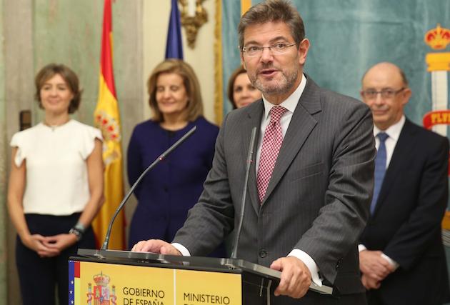 Rafael Catalá, ministro de Justicia de España.,rafael catala