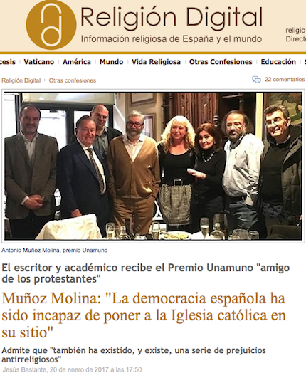 El Premio Unamuno en los medios