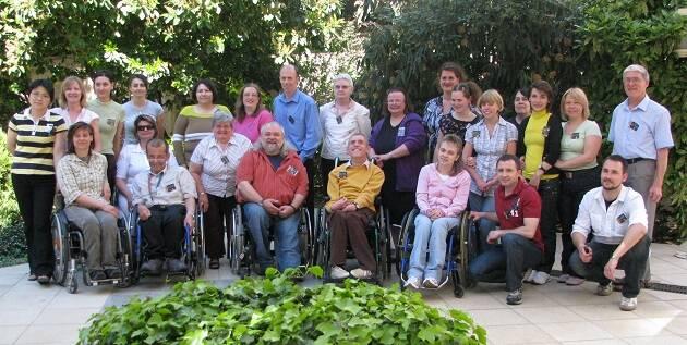 Participantes en el encuentro de la European Disability Network meeting en Budapest. ,