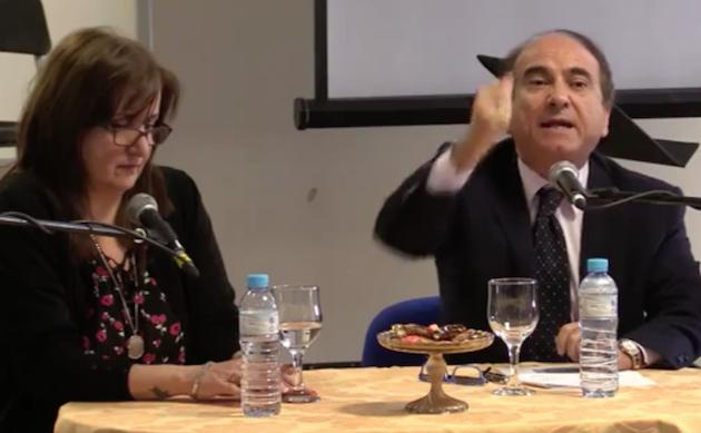 Rosana Liste y Dominico Scilipoti, durante la mesa redonda en el 2º Congreso Europeo de Parlamento y Fe. / Periódico Uno, FB,