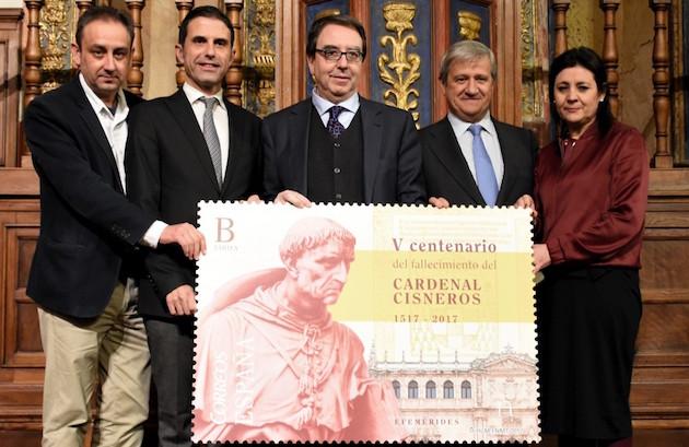 Presentación oficial del sello dedicado al Cardenal Cisneros. / Correos,correos sello cisneros