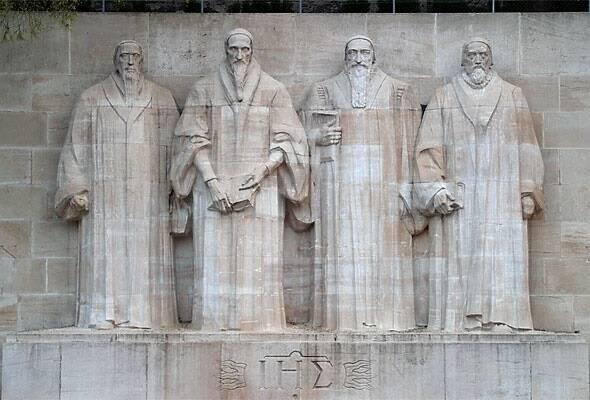 El muro de los reformadores, en Ginebra, que incluye al británico John Knox. / Paul Landowski, Wikimedia (CC),reformation wall