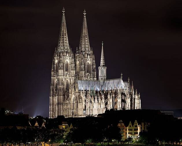 Catedral católica en Colonia, Alemania. / Wikipedia,colonia alemania catedral