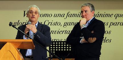 Amable Morales (tesorero) y Marcos Zapata (presidente). / M. Acuña