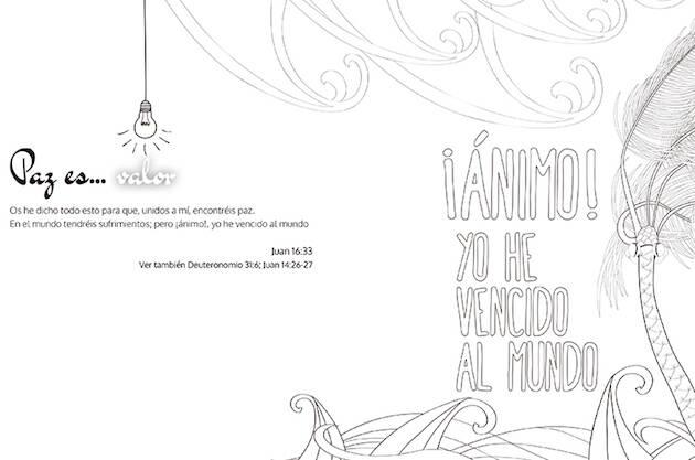 Una de las ilustraciones para colorear del proyecto The Word Lamp.,the word lamp