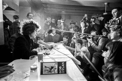 Rueda  de prensa de Bod Dylan.