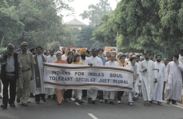 Una manifestación en India a favor de la libertad religiosa. / EFI,india