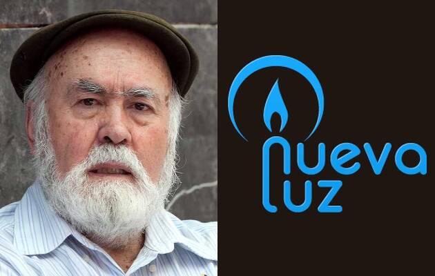 Gabino Fernández y el logo de Nueva Luz,Gabino Fernández, Nueva Luz