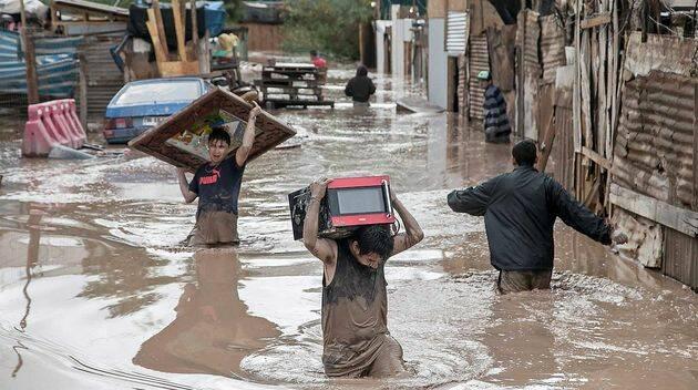 Ya hay 72.00 damnificados por las lluvias./ ,