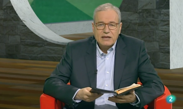 José Pablo Sánchez, durante la emisión del programa de este pasado domingo, Buenas Noticias TV. / RTVE,jose pablo sanchez buenas noticias tv