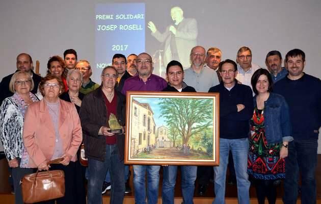 Voluntarios de Rebost Solidari tras recoger los premios,Rebost Solidari