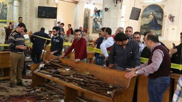 La iglesia de Tanta tras la explosión. / Getty,