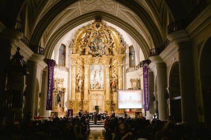El escenario, la iglesia de El Salvador de Valladolid. / Juan Pablo Serrano