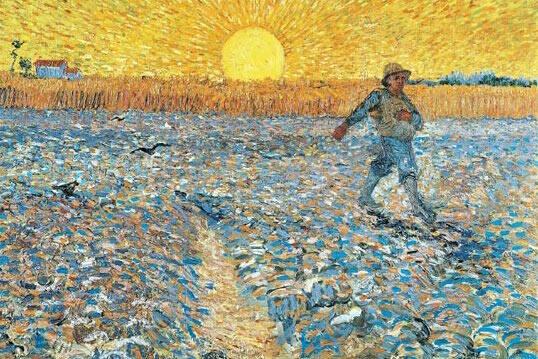 El sembrador, obra de Vincent Van Gogh.,