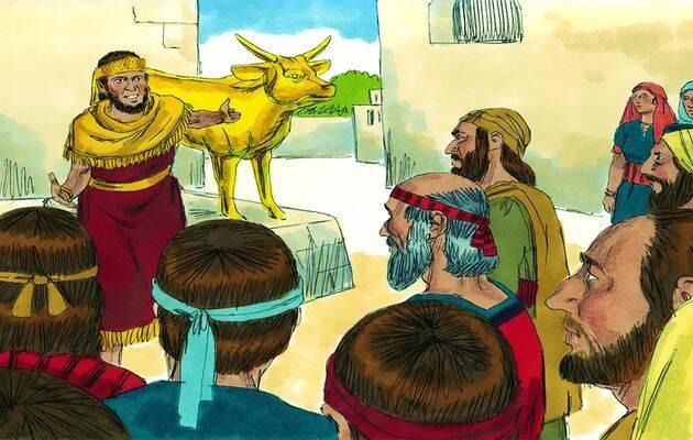 l rey Jeroboam  había hecho dos becerros de oro. /FreeBibleImages,