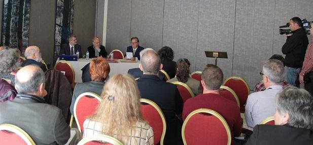 <p> Comunicadores en Madrid, en el Encuentro Adece. / Marina Acu&ntilde;a.</p> ,
